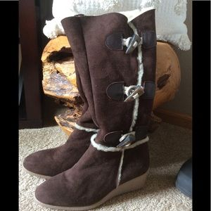 Rafe Brown Leather Suede Boots